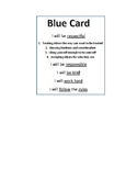 Behavior and Rule Cards