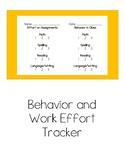 Behavior and Work Effort Tracker