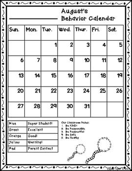 Behavior calendar 2017-2018 - Special Request (Kristin Bazemore)