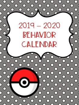 Behavior calendar 2019-2020 - Pokemon Go Inspired!!