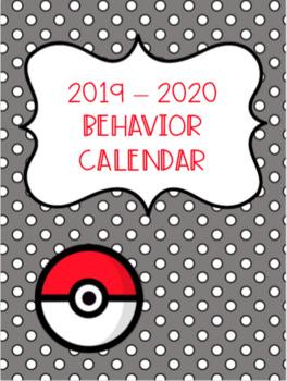 Behavior calendar 2019-2020 - Pokemon Go Inspired!! --EDITABLE!
