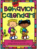 Behavior calendars for the 2017-2018 school year