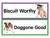 Behavior Management chart - dog theme