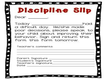 Behavior chart English