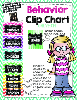 Behavior chart (chevron)