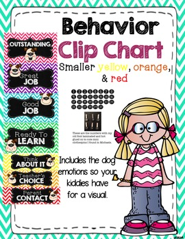 Behavior chart (chevron with dogs)