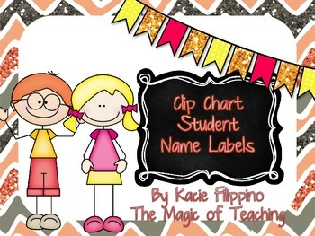 Behavior chart name/number labels