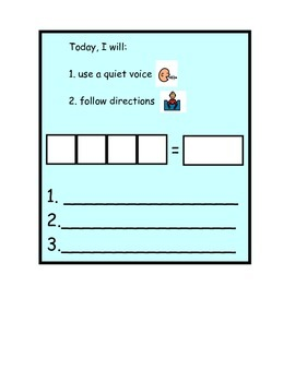 Behavior chart: quiet voice & follow directions