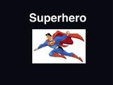 Behavior chart super hero sheets