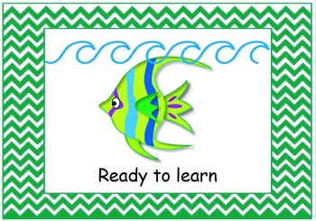 "Behavior chart with clips ""Under the Sea"" theme"