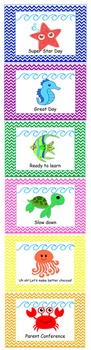 """Behavior chart with clips """"Under the Sea"""" theme"""
