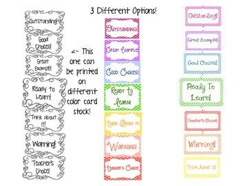 Behavior clip chart. 3 different choices! FREEEEBIE!