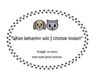 Behavior clip chart (dog and cat theme)