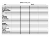 Behavior data collection form - ABC