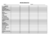 Behavior data collection form - ABC