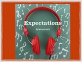 Behavior expectations and consequences posters/presentation