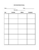 Behavior forms and Transition test for Special Education