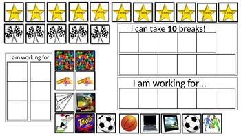 Behavior incentives chart - break and task completion