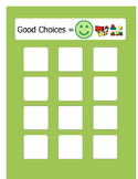 Behavior management: Good and bad behaviors sorting activity