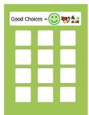 Behavior management: Good and bad behaviors sorting activity