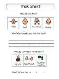 Behavior management: Think Sheet