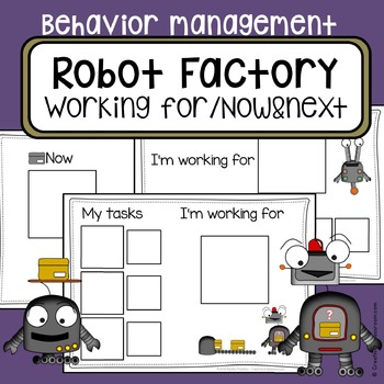 Behavior management system - Autism visual working for board - now and next
