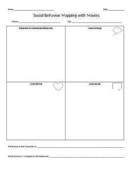 Behavior Mapping Teaching Resources | Teachers Pay Teachers