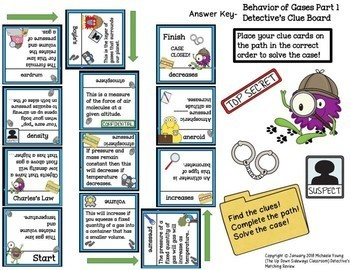Behavior of Gases Detective's Matching Review Set