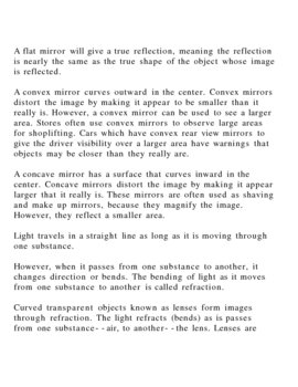 Behavior of Light!