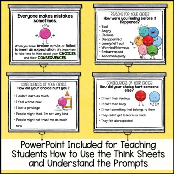 Restorative Practices Choices or Behavior Think Sheet