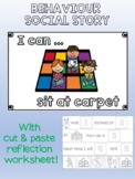 Behavior social story - I can sit at carpet