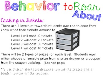 Behavior to ROAR About {Clip Chart Discipline & Coupon Reward}