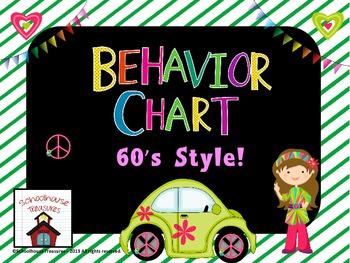 Behavior/Behaviour Chart 60's Style!