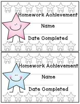 Behavior/Homework Charts