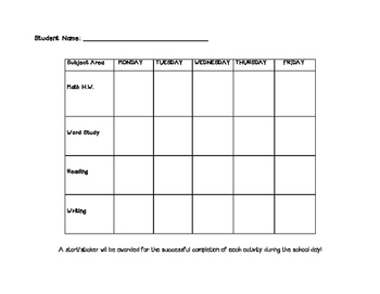Behavioral Chart Elementary