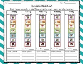Behavioral Clip Chart (Board Game Theme)
