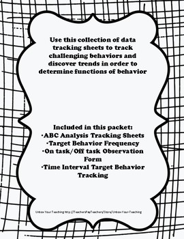 Behavioral Data Tracking Sheets Packet