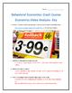 Behavioral Economics: Crash Course Economics- Video Analys