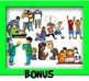 Behavioral-Emotional CommUNITY Clip-Art Bundle 92 Pieces BW/Color