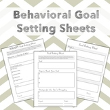 Behavioral Goal Setting Worksheets