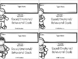 Behavioral IEP Goals Tracking Ring Cards