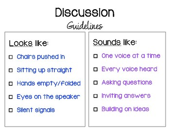 Behavioral Guidelines for Group Discussion
