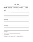 Behavioral Management: Think Sheet and Class Pass