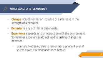 Behavioral Psychology: Learning Slides