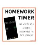 Behavioral Strategy - Homework Timer
