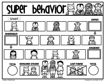 Behavioral Support Daily Incentive Tracking Sheets