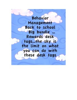 Behavior/reward desk tags