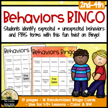 Behaviors Bingo Game, Activity