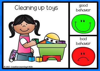 Behaviors Good & Bad Digital Task Cards: BOOM CARDS