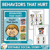 Social Story Behaviors That Hurt! Special Education Autism